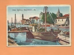 Carte à Système  Décollée  -  Mes Beaux Souvenirs Du....Grau Du Roi  -Dépliant 10 Vues  -(port , Bateau , Bateaux ) - France