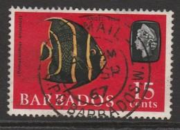Barbados 1965 Marine Life 15 C Multicoloured SW 244 O Used - Barbados (1966-...)