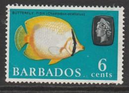 Barbados 1965 Marine Life 6 C Multicoloured SW 241 O Used - Barbados (1966-...)