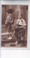 NIÑAS GILS FILLES MENINAS DISFRAZ COSTUME -CIRCA 1910s- BLEUP - Fotografie