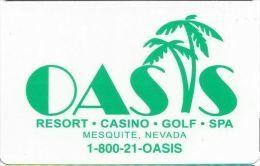 Oasis Casino Mesquite NV Hotel Room Key Card - Cartes D'hotel