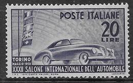 Italia Italy 1950 Salone Auto Torino Sa N.617 Nuovo MH * - 6. 1946-.. Repubblica