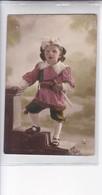 NIÑA FILLE GIRL MENINA DISFRAZ COSTUME ESPADACHIN SWORDSMAN COLORISE-CIRCA 1910s- BLEUP - Fotografie