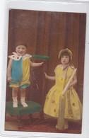 NIÑOS ENFANTS KIDS CRIANÇAS DISFRAZ COSTUME COLORISE-CIRCA 1910s- BLEUP - Fotografie