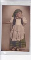 NIÑA GIRL FILLE MENINA DISFRAZ COSTUME FOLKLORE FOLK COLORISE-CIRCA 1900s- BLEUP - Fotografie