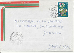 Algeria Air Mail Cover Sent To Denmark 16-10-1979 Single Franked (the Sender Address Is Cut Of The Backside Of The Cover - Algeria (1962-...)