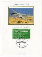 Carte Maximum 1987 - Trimoteur Dewoitine 338 Poste Aérienne YT PA 59 - 1er Jour Le 11/04//1987 - 31 Toulouse (réf 18-18) - 1980-89