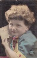 NIÑO GARÇON BOY CRIANÇA CARTA LETTER ENVELOPPE COLORISE CIRCA 1900s- BLEUP - Fotografie