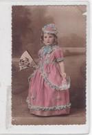 NIÑA FILLE MENINA GIRL DISFRAZ COSTUME DAMA ANTIQUA DAME ANTIQUE COLORISE CIRCA 1910s- BLEUP - Fotografie