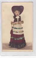 NIÑA FILLE MENINA GIRL DISFRAZ COSTUME FOLK FOLCLORE COLORISE CIRCA 1910s- BLEUP - Fotografie