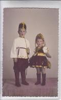 NIÑOS ENFANTS KIDS FOLK DRESSED RUSSIAN COSTUME DISFRAZ COLORISE CIRCA 1946- BLEUP - Fotografie
