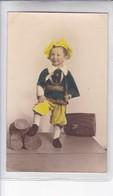 NIÑO BOY GARÇON COSTUME DISFRAZ LEÑADOR WOODCUTTER COLORISE CIRCA 1920s- BLEUP - Fotografie