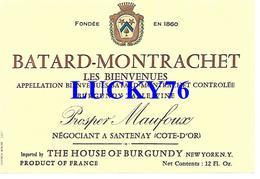 Etiquette Batard- Montrachet  Prosper Maufoux - Bourgogne