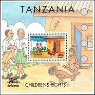 Tanzania 2004 Childrens Rights Souvenir Sheet Unmounted Mint. - Tanzania (1964-...)