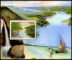 Tanzania 2003 Waterfalls And Landscapes Souvenir Sheet Unmounted Mint. - Tanzania (1964-...)