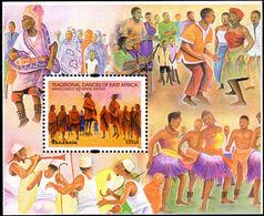 Tanzania 2003 Traditional Dances Souvenir Sheet Unmounted Mint. - Tanzania (1964-...)