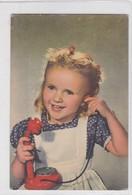 NIÑA GIRL FILLE PHONE TELEFONO CIRCA 1960s- BLEUP - Fotografie