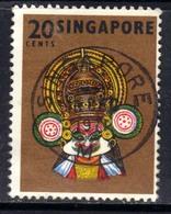 Singapore 1968 - 73 QE2 20ct Kathak Kali SG 107 ( D159 ) - Singapore (1959-...)