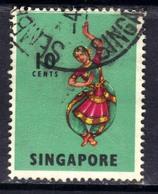 Singapore 1968 - 73 QE2 10ct Bharatha Natyam SG 105 ( D170 ) - Singapore (1959-...)