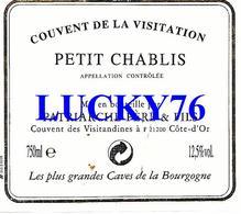 Petite Etiquette Petit Chablis Couvent De La Visitation (8 X 7 Cm) - Bourgogne