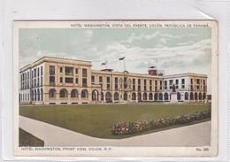 HOTEL WASHINGTON, VISTA DEL FRENTE, COLON, REPUBLICA DEL PANAMA. MADURO JR. CIRCA 1910s- BLEUP - Panama