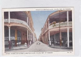 CALLE 11A & BOTTLE ALLEY. COLON, REP DE PANAMA. MADURO JR. CIRCA 1910s- BLEUP - Panama
