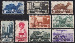 ERITREA - Lotto Di 9 Valori Obliterati Yvert 195/203. - Eritrea