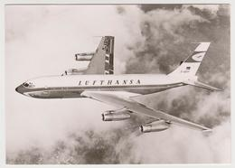 [721] LUFTHANSA Boeing Jet 720 B. Official Postcard.- See Defects In Scanner. Voyez Défauts Sur Le Scan. - 1946-....: Era Moderna