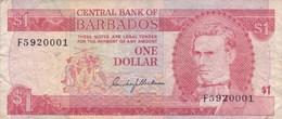 Barbades - Billet De 1 Dollar - Samuel Jackman Prescod - Non Daté - Barbades