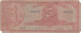 Haïti - Billet De 5 Gourdes - Non Daté (1919 ?) - Haïti