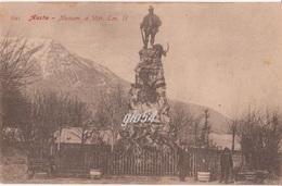 Aosta Monumento Vittorio Emanuele II Re Cacciatore Animata - Italie