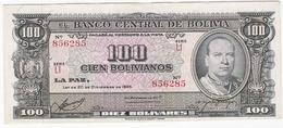 Bolivie - Billet De 100 Bolivianos - 20 Décembre 1945 - Villaroel - Presque Neuf - Bolivie