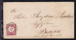 Adler Mit Großem Schild 1 Gr. Auf Brief Mit K2 LEIPZIG P.V. No 13 17 OKT 73 - Allemagne