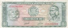 Pérou - Billet De 5 Soles De Oro - Inca Pachacutec - 9 Septembre 1971 - Pérou
