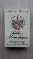 Zündholzschachtel Mit Sekt-Werbung Aus Deutschland - Zündholzschachteln