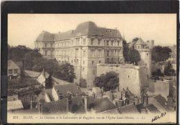 41142 . BLOIS . LE CHATEAU ET LE LABORATOIRE DE RUGGIERI . VUS DE L EGLISE SAINT NICOLAS  (recto/verso) - Blois