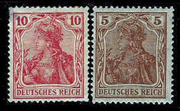Germany 1902-1916, #83, 118, Deutsches Reich, Germania Series, Unused, Light Hinge - Germany
