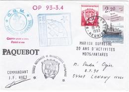 TAAF209 - Marion Dufresne - OP 93 -3.4 - Le Port (Réunion) 19 Mai 1993 - Französische Süd- Und Antarktisgebiete (TAAF)