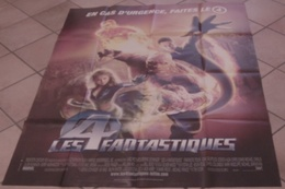 AFFICHE CINEMA ORIGINALE FILM LES 4 FANTASTIQUES Tim STORY GRUFFUDD Jessica ALBA 2005 SUPER-HEROS - Manifesti & Poster