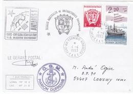 TAAF212 - Marion Dufresne - Port Aux Français 4 Avril 1993 - Französische Süd- Und Antarktisgebiete (TAAF)