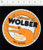 Autocollant Sticker Publicité Le Caïman De Wolber Pneu Bicross / Crocodile Animal Pneus Vélo 21/12ADH - Aufkleber