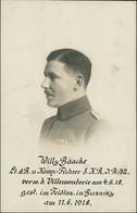 Soldat Willy Baake Leutnant U. Komp Führer 5.K.R.J.R.32. 1916 Privatfoto - Guerre 1914-18