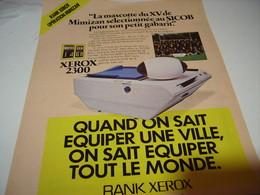 ANCIENNE PUBLICITE  LA MASCOTTE DU 15 DE MIMIZAN RANK XEROX 1979 - Advertising