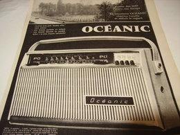 ANCIENNE  PUBLICITE TRANSISTOR  OCEANIC 1961 - Advertising