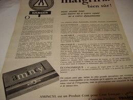 ANCIENNE AFFICHE  PUBLICITE MAIGRIR BIEN SUR  AMINCYL 1961 - Posters