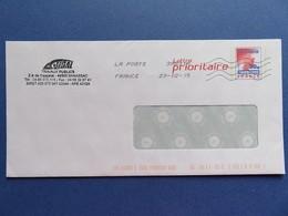 PAP - Enveloppe Lettre Prioritaire 20 G - Carte De France Rouge - Tampon Travaux Publics - Banassac (48) - 23.02.15 - Postal Stamped Stationery