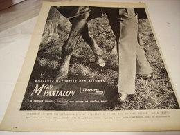 ANCIENNE PUBLICITE MON PANTALON   TERGAL  1961 - Habits & Linge D'époque