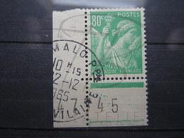 """VEND BEAU TIMBRE DE FRANCE N° 649 + 2 BDF , CACHET """" ST-MALO """" !!! - 1939-44 Iris"""
