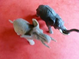 2 Figurines Animaux éléphant Jungle (article 21) - Figurines