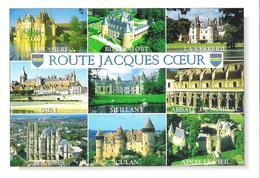 LA BUSSIERES - BLANCAFORT - LA VERRERIE - MEILLANT - CULAN - AINAY LE VIEIL. CP Châteaux De La Route Jacques Coeur - Autres Communes